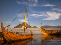 Viking Ships in Lofoten
