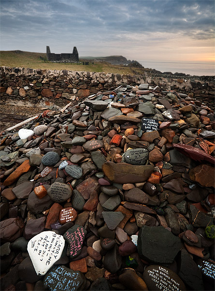 Isle of Whithorn Memorial. The Witness Cairn. Fine Art Landscape Photography by Gary Waidson
